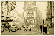 vintage phot of times square